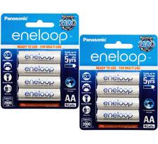 8x Panasonic Eneloop AA 2000mAh LSD NiMH Rechargeable Batteries
