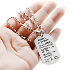 Always Remember You Are Braver Than You Believe Hot Jewelry Pendant Necklace FF
