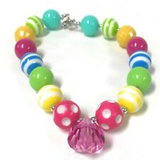 Girl's Chunky Bubblegum Necklace Jewelry Beads Toddler Baby Gift Charm Pink