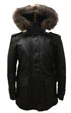 Coach Thompson Leather Snorkel Jacket Men's Winter Coat, 83997, Small, $1400