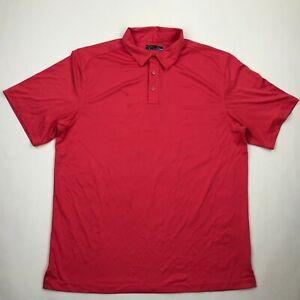 Callaway Men Salmon Pink 3 Button Short Sleeve Golf Polo Shirt sz XL