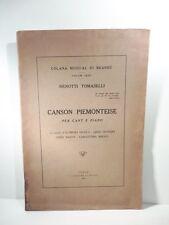 Canson piemonteise per cant e piano su parole d'A. Nicola, L.Olivero, Pacot