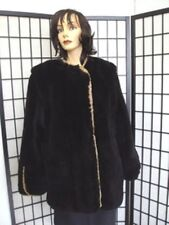 ~New Refurbished Sheared Black Opossum Opposum Fur Coat Jacket Women Woman 10-12