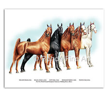 Tennessee Walking Horse Art - World Grand Champion Mares painting portrait