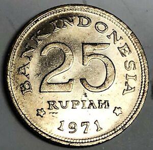 # C2758     INDONESIA    COIN,     25  RUPIAH  1971