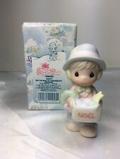 Precious Moments Sugar Town 1992 Dusty Boy w/box of ornaments 529435