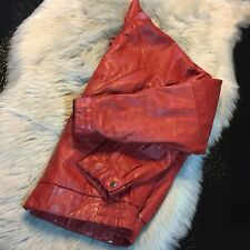 Echtes Leder Vintage Red Faux Leather Jacket Size 44 Unisex NICE!