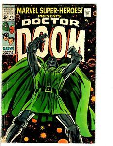 Marvel Super-Heroes #20 1st Solo Doctor Doom - 1st Valeria