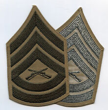 Gunnery Sergeant Patches Olive on Khaki Male 1995 mint One pair