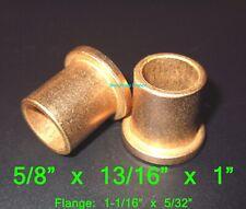 5/8 x 13/16 x 1 ~ Flanged Oilite Bronze Bushing Bearing Spacers ~ Free Ship!