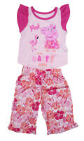 New Girls Toddler Peppa Pig 4 Piece Pajama Set Just Have Fun Pink 24M