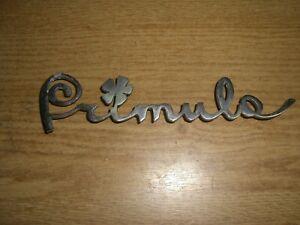 Emblem Badge Autobianchi Primula aus Metall, ca. 160 x 40 mm