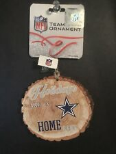 ea23eacf6 Dallas Cowboys NFL Wood Stump Holidays Christmas Ornament  New w  Tags