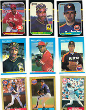 1987 FLEER,DONRUSS&TOPPS BASEBALL 3 FULL SET LOT,2000+ CARDS BONDS&BO JACKSON RC