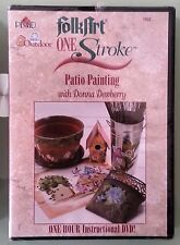 donna dewberry folkart one stroke PATIO PAINTING   DVD NEW shrinkwrap tear