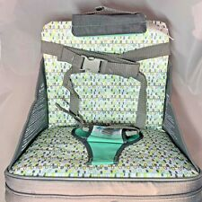 The First Years On-The-Go Portable Booster Seat 6-18 Months Grey Green New Nob
