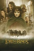 LORD OF THE RINGS MOVIE POSTER ~ FELLOWSHIP RING CAST 24x36 Elijah Wood Hobbit