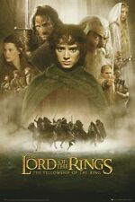 Lord Of The Rings ~ Fellowship ~ Cast ~ 24x36 Movie Poster Elijah Wood Hobbit