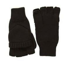 Negro Guantes Sin Dedos Con Mitones Accesorio de un tamaño de punto térmico