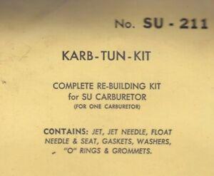 Carburetor kit for Austin Healey 3000-MK2-BJ7 1962-64 Royze #SU-211