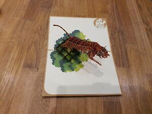 3d Popup Tiger Card
