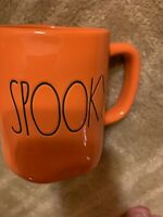 Rae Dunn Orange Spooky Halloween Mug New