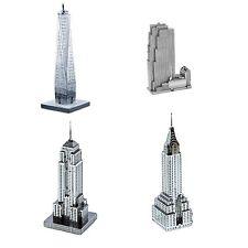 Set of 4 Metal Earth 30 Rockefeller Plaza Empire State Chrysler One World Center