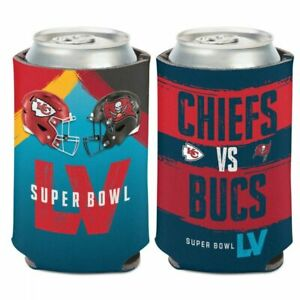 TAMPA BAY BUCCANEERS KANSAS CITY CHIEFS SUPER BOWL LV DUELING CAN COOLER HOLDER