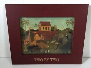 """Framed Noah's Ark Two by Two 16.5"""" x 14 3/4"""" Warren Kimble"""