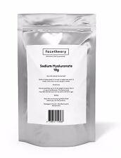 Facetheory Sodium Hyaluronate / Hyaluronic Acid  Powder - Pure - Vegan - 10g