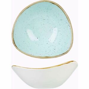 "Churchill Stonecast Duck Egg Triangular Bowl 6"" / 15.3cm SDESTRB61 x6"