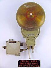 Navy Ship Alarm Bell Brass Bronze Henschel General Quarters Alarm LARGE