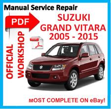 # OFFICIAL WORKSHOP MANUAL service repair FOR SUZUKI GRAND VITARA 2005 - 2015