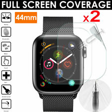 2x FULL SCREEN TPU Screen Protector Covers for Apple Watch Series 6, SE, 5 44mm
