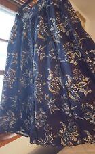 Monsoon women cotton skirt M L 10 12 navy blue beige lace floral flare