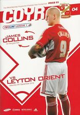 Football programme > Swindon Town v Leyton Orient sept 2012