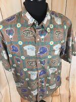 Reyn Spooner Arizona Diamondbacks Hawaiian Shirt Reverse Print Men's XL