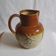 Antique Denby Salt Glazed Stoneware Hunting Jug C1860   A/F