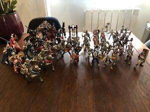 figurines papo Chevaliers Chevaux + Soldats