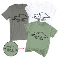 Women Cat Print Casual Tank Top Summer Blouse Sleeveless O Neck Funny T-Shirt