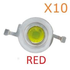 1W (Red) (10 Pieces) LED Diode Lamp Beads 1 Watt High power Super Bright