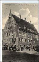 AUGSBURG AK~1920 Strassen Partie Weber-Haus ungebraucht alte Postkarte