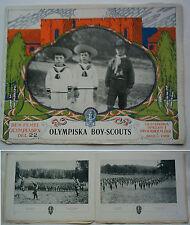 Orig. PRG/Pictorial Review JEUX OLYMPIQUES STOCKHOLM 1912-olympique de Boy Scouts!