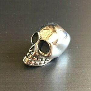Skull stainless steel 6mm hole dread / hair / beard bead beautiful quality