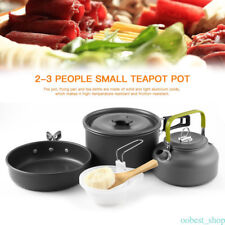 Outdoor 9 Pcs Camping Cookware Set, Camp Hiking Picnic Backpacking Cooking Kit