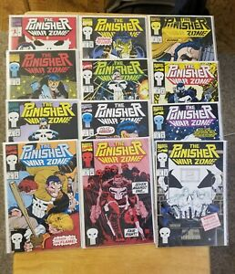 PUNISHER WAR ZONE Lot 1-12 Marvel Comics NM/NM+ UNREAD ONE OWNER
