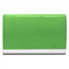 #2486 GREEN Wellspring Signature Series Faux Leather Business Card Case