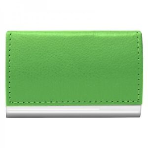 #2486 LIME GREEN Wellspring Signature Series Faux Leather Business Card Case