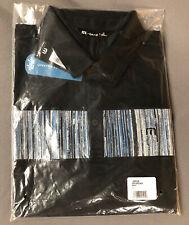 Travis Mathew Prestige 77 Recordian Golf Shirt Polo (L, Black, Cotton) Msrp $90