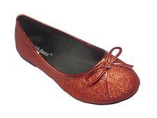 Girl Glitter Shoes Flower Girl Dress Shoes Princess Elsa Belle Kid Size (STRW)